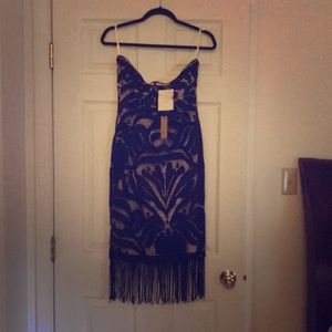 Fun strapless fringe dress